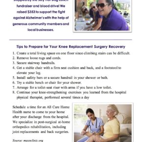 What You Need to Know About Joint Replacement Surgery – August 2016 Newsletter